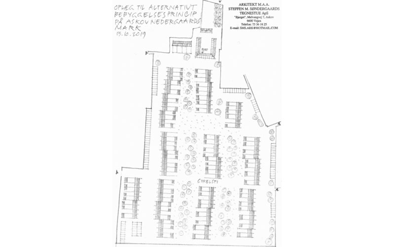 Alternativt bebyggelsesprincip til nyt boligområde i Askov